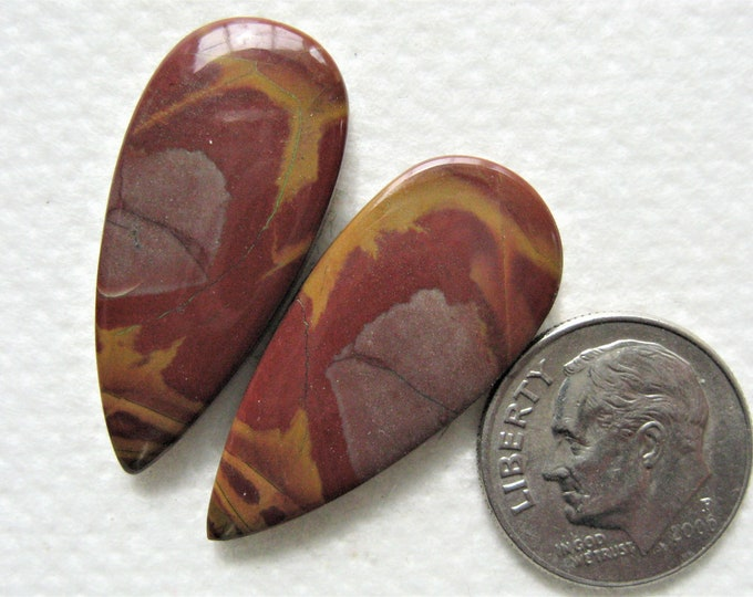 Noreena jasper cabochons for earrings