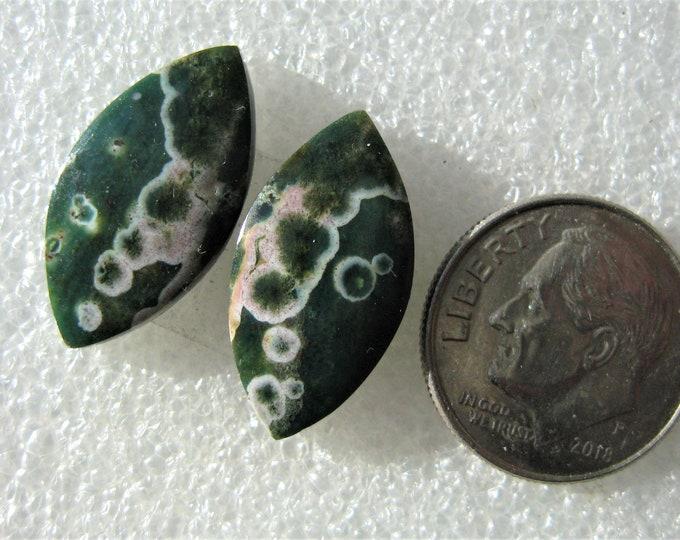 Ocean Jasper designer earring cabochons