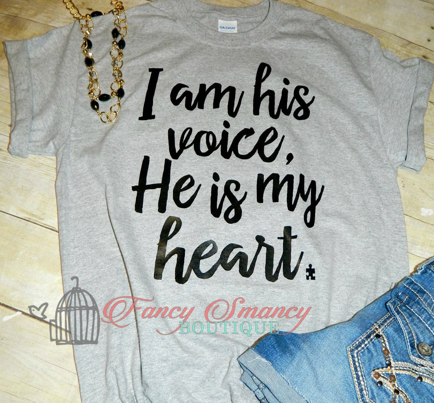 Custom Autistic Autism Awareness Shirt I Am His Her Voice He Etsy