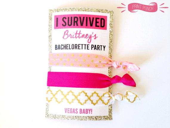 Custom Bachelorette Party Hair Tie Labels PRINTABLE Bride