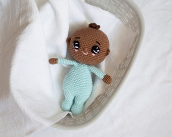 Crochet toy baby boy, amigurumi toy, crochet doll baby gift