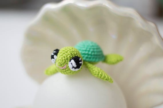 Sea Turtle Crochet Baby Toy Stuffed Animal Tiny Turtle Etsy