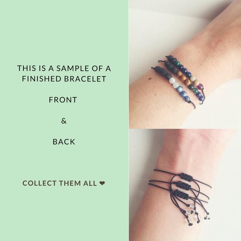 Blue Lace Agate Crystal Quartz /& Rose Quartz Minimalist Nylon Bracelet Self-Love ~ Choose a String Color ~ Aquamarine Friendship Bracelet
