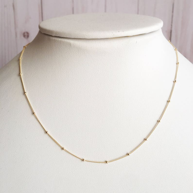 14k Gold Filled Beaded Necklace Will You Be My Bridesmaid Bridesmaid Gift 14k Gold Filled Necklace Chain 14k Gold Filled Wedding