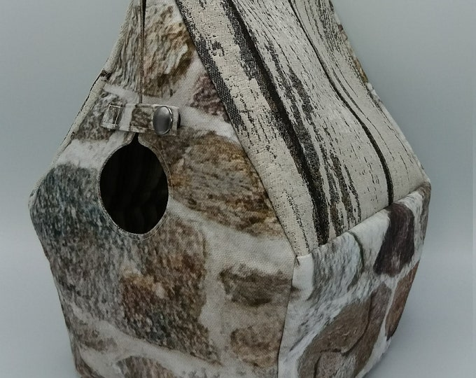 Castle bag, Game of Thrones series, Birdhouse shaped project bag for knitting or crochet