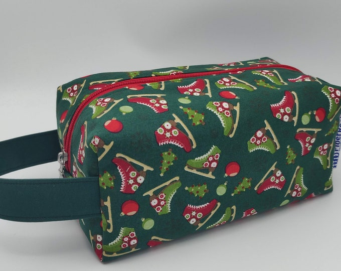 Project Bag Christmas Knitbox, box bag for knitting, crochet or anything you like