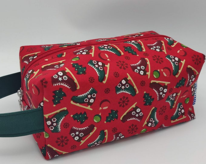 CLEARENCE, REDUCED PRICE, Project Bag Christmas Knitbox, box bag for knitting, crochet or anything you like