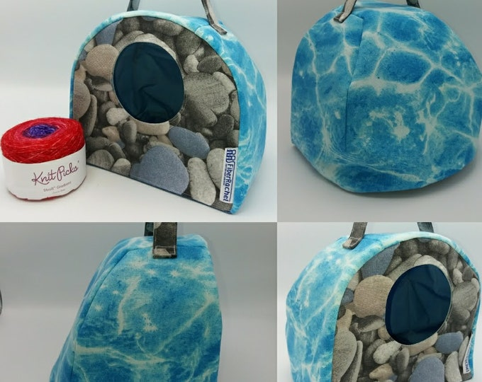 FiberCave, yarn bowl, cubby hole or project bag for knitting, spinning, crochet or whatever you like.