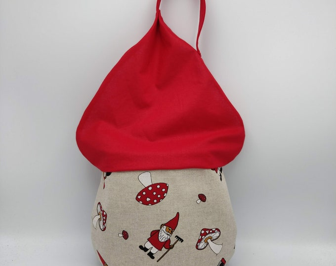 Gnome Project Bag, drawstring bag for knitting, crochet or anything you like, knitted Jumper, project bag, knitting bag