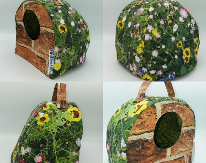Hobbit Burrow (Smial) FiberCave, yarn bowl, cubby hole or project bag for knitting, spinning, crochet or whatever you like.