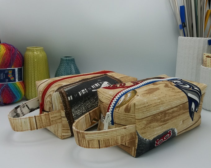 Baseball Knitbox, box bag for knitting, crochet or anything you like