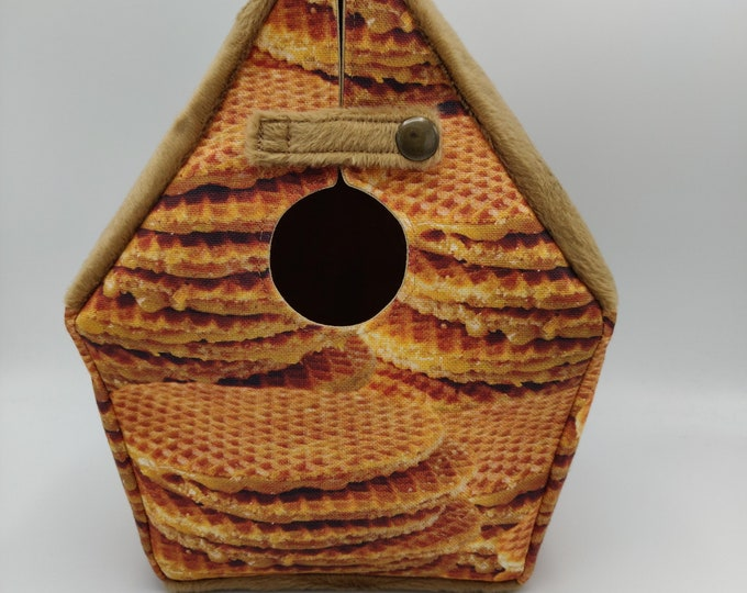 Birdhouse Project bag 'Gouda Collection' for knitters or crocheters, fully lined, Birdhouse shaped knitting bag