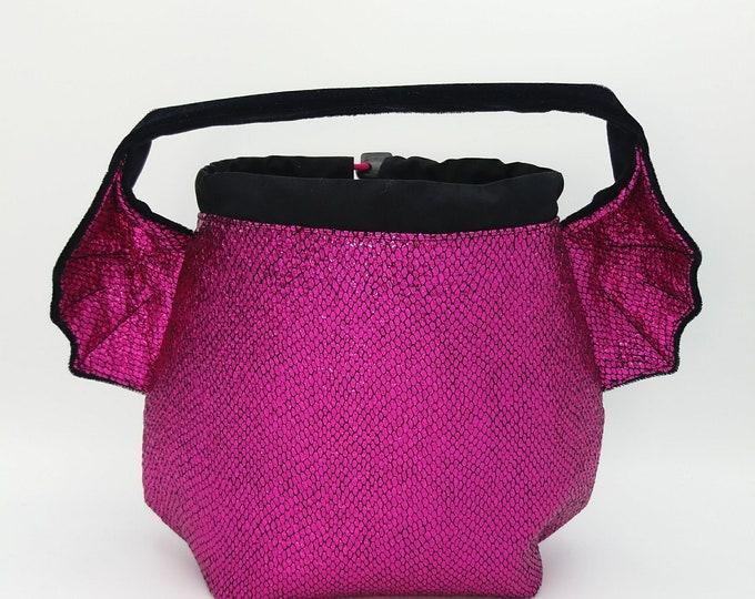 Dragon Earsbag, projectbag, drawstring bag for knitting, crochet or anything you like