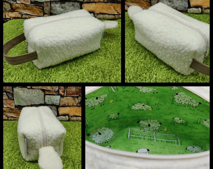 Sheep Knitbox with tail, a Project Bag for knitting, crochet, or whatever you like
