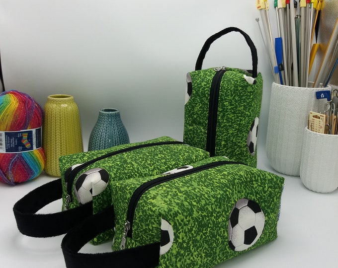 Soccer/football Knitbox, box bag for knitting, crochet or anything you like