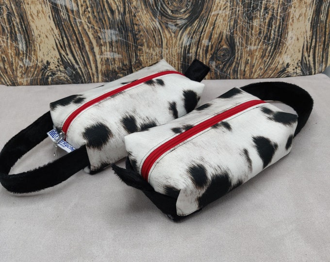 Dalmatian print Tool case, pouch, box bag, knitbox, for your knitting gadgets and tools or very small projects