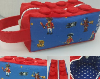 Brick Knitbox, box bag for knitting, crochet or anything you like, inspired by toy building blocks