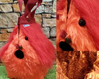 Fawkes, Phoenix, FiberSpecial 'Harry Potter' Birdhouse shaped project bag for knitting or crochet