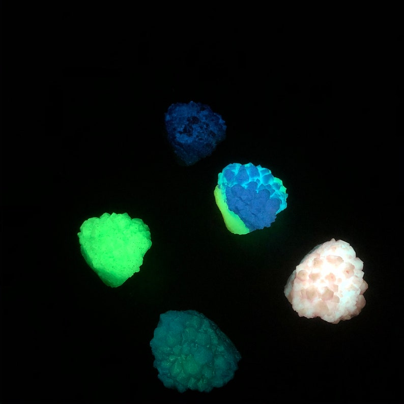 Small Glow in the dark Crystal Cluster