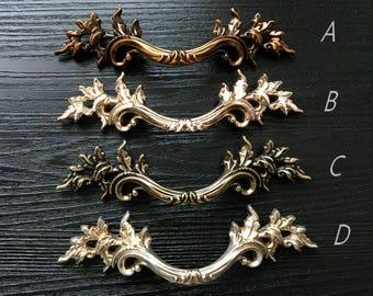 3u201c Drawer Pull Handles Knobs Rose Gold White Dresser Pull Shabby Chic Cabinet  Pulls Provincial Antique Bronze Silver Brass 76 ARoseRambling