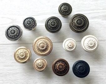 Talavera Style Flower Ceramic Knobs Pulls Kitchen Drawer Cabinet Vanity 248