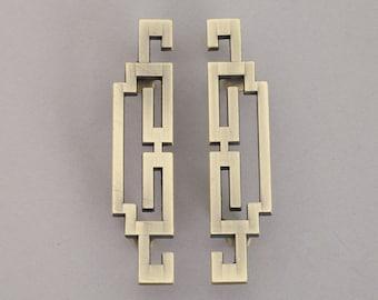"Pair of 2.5"" 3.75"" 5"" Drawer Pulls Vintage Style Cabinet Door Handles Pull Antique Bronze White Dresser Pulls Handle ARoseRambling 64 96 128"