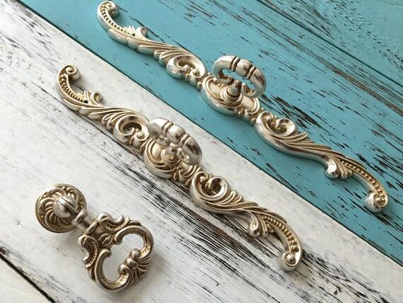 vintage stil ring antike silber schrank t rknauf t rkn pfe etsy. Black Bedroom Furniture Sets. Home Design Ideas