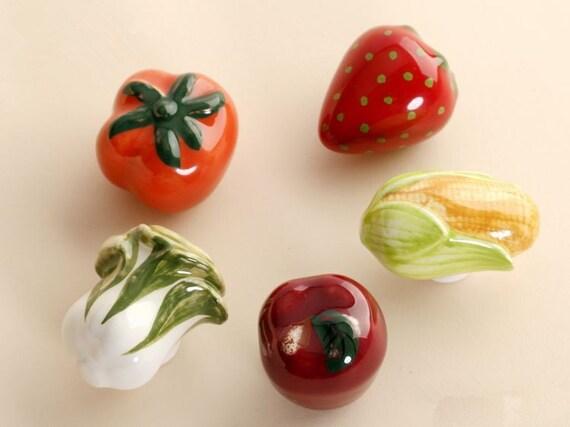 Fruit Vegetable Knob Kitchen Cabinet Knobs Baby Kids Dresser | Etsy