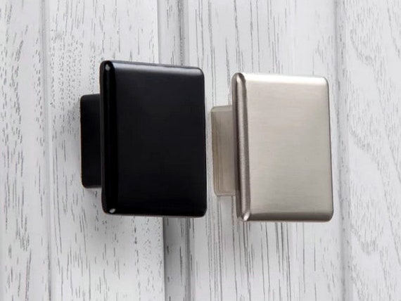 Cabinet Knob Drawer Pull Square Knob Drawer Knobs Pulls Handles Dresser Knob Black Brushed Nickel Kitchen Cabinet Door Knobs Aroserambling
