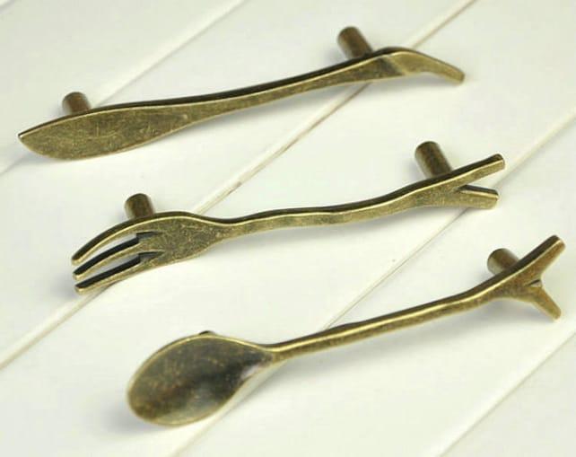 76 mm Löffel Gabel Messer Möbel Griff Griffe Möbelgriff Knäufe | Etsy