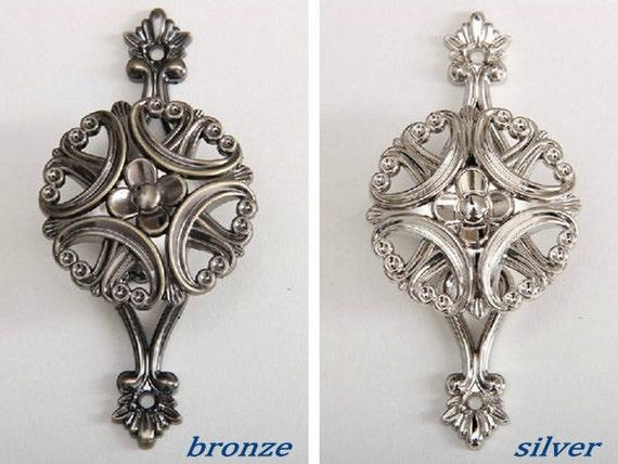 Goud Zilver Antieke Bronzen Klaver Haak Decoratieve Haken Muur Etsy