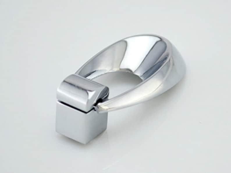 Dresser Pull Knobs Drawer Knob Pulls Handles Drop Rings Silver Chrome Kitchen Cabinet Pulls Knob Pull Handle Modern Decorative Hardware Oval