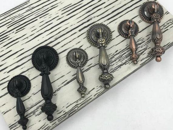 vintage stil schwarz schrank t rkn pfe h ngegriff h nge knopf etsy. Black Bedroom Furniture Sets. Home Design Ideas
