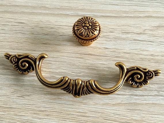 image 0 - 3.75 Drawer Pull Handles Dresser Pulls Antique Brass Etsy
