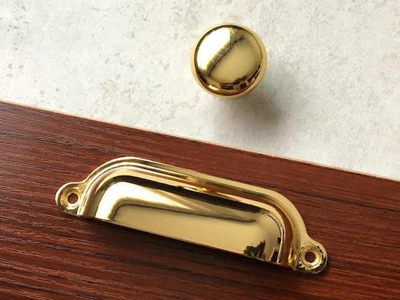 3.75 5Pair of Cabinet Handles Pulls Antique Gold Brass Dresser Pulls Drawer Pull Handles Retro Furniture Handle Pull Hardware 96  128 MM
