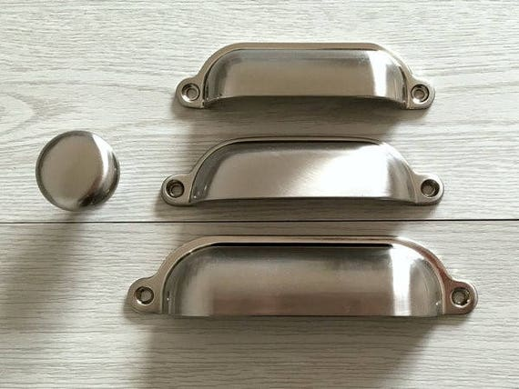 Meubles tiroir Poignée coquille tiroir tasse Cabinet porte antique bronze//laiton