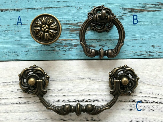 """Brass Drop Bail Style Drawer Pull 10 available 6.5"""" on 5"""" centers"""