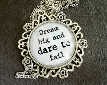 Positive quote necklace