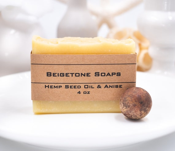 HEMP SEED OIL Soap Bar | 4oz | Rebalances Oily or Dry Skin | Soothes Inflammation