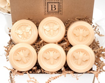Honey Lemon Bee Soap Box of 6, Mother's Day Gift Box, Thank You, Under 20, Mom Gift, Mothers Day Gift for New Mom, Gift for Mom