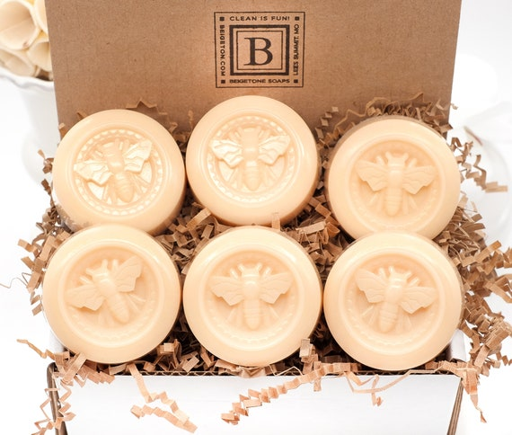 Honey Lemon Bee Soap Bars Set of 6, Gift Sets, Birthday, Wedding, Bridesmaid, Favors, Gifts Under 20, Christmas Gifts, Bees, Honey Bee Gifts
