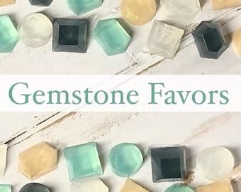 36 Gemstone Soap Favors, 1/2 oz ea, Pink Grapefruit Scent, Wedding, Bridal, Shower, Baby, Party, Table Decorations, Wedding Table Decor
