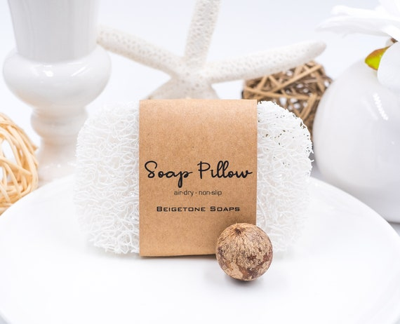 SOAP PILLOW Keeps Soap Bars Dry | Helps Soap Last Longer | No-Slip | Keeps Bar in Place