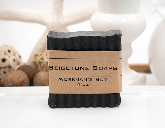 DISCONTINUED Workman's Charcoal and Coffee Bar | 4oz | Charcoal, Cedar Wood, Orange and Clove Essential Oil with Coffee for GRIT