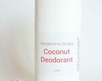 COCONUT Top ODOR CONTROL Twist Up Deodorant   2.5 oz Twist Applicator   All Natural   Aluminum and Paraben Free