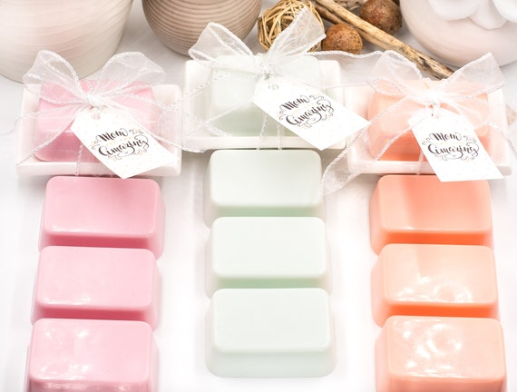 Mother's Day Mini Goat Milk Soap in Dish | Vanilla Rose, Peppermint Flower or Citrus & Cucumber | 3.5oz ea. | Comes with Tag ready to Gift!