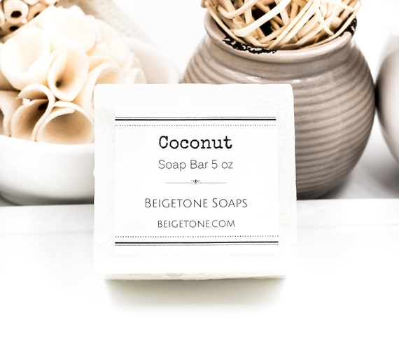 COCONUT Scented Soap Bar | Large 5 oz | Stunning White | Soothing SUMMER Scent