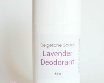 LAVENDER Top ODOR CONTROL Twist Up Deodorant   2.5 oz Twist Applicator   All Natural   Aluminum and Paraben Free