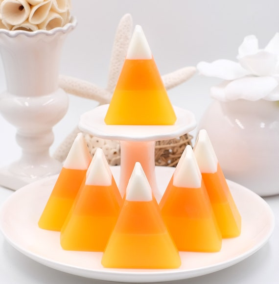 Set of THREE Candy Corn Soaps | Pumpkin Spice | 2.3 oz ea | Cute Fun for All