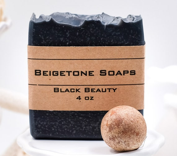 Black Beauty Charcoal Bar | 4oz | Avocado and Shea Butter | Treats Acne, Dermatitis, Psoriasis, Oily Skin | Top Healing Bar
